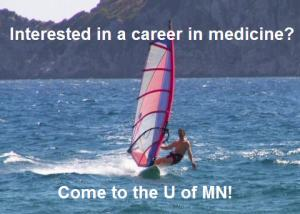 Not actual advertisement for the U of MN medical school